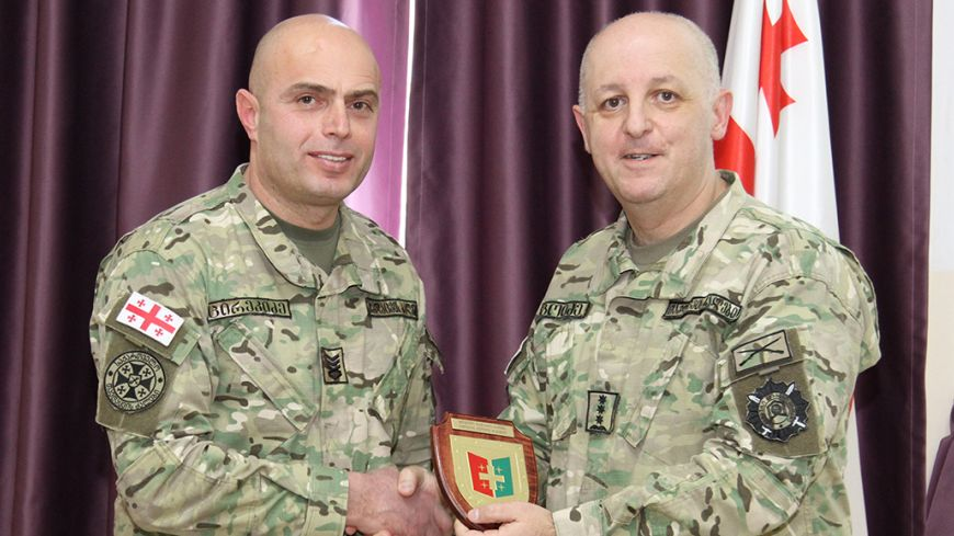 Visit of the Sergeant Major of the Georgian Armed Forces at the Command and Staff College.