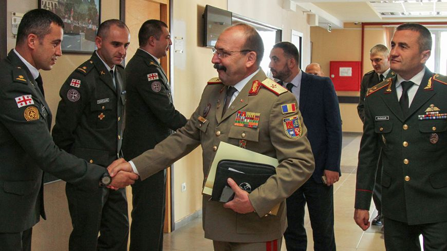 VISIT OF THE RECTOR OF THE ROMANIAN LAND FORCES ACADEMY TO THE NATIONAL DEFENCE ACADEMY