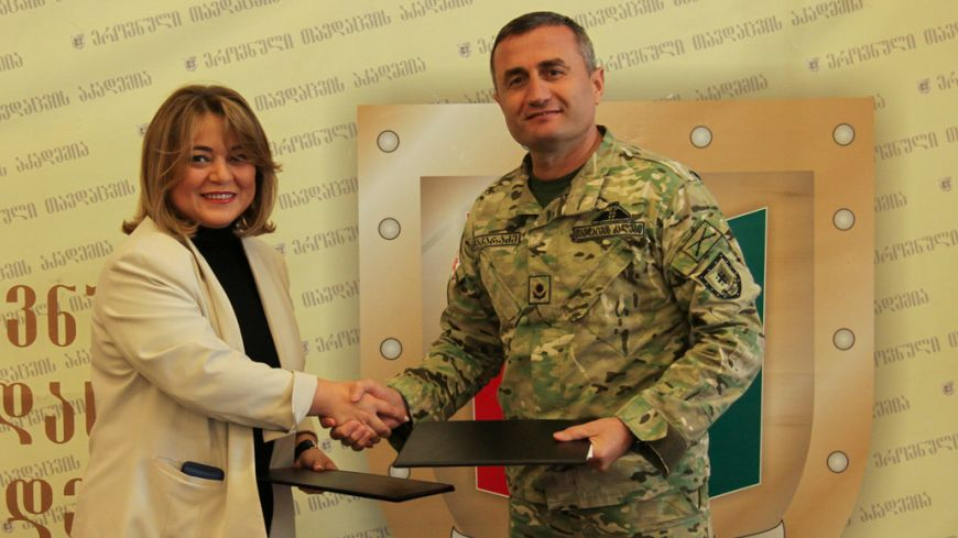 Memorandum was signed between LEPL - David Aghmashenebeli National Defence Academy of Georgia and LEPL - Zurab Zhvania School of Public Administration.
