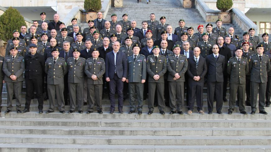 Visit of the Command and Staff College Listeners of National Defence Academy of Georgia to Parliament of Georgia